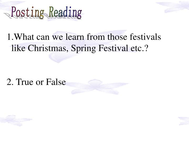 Posting Reading