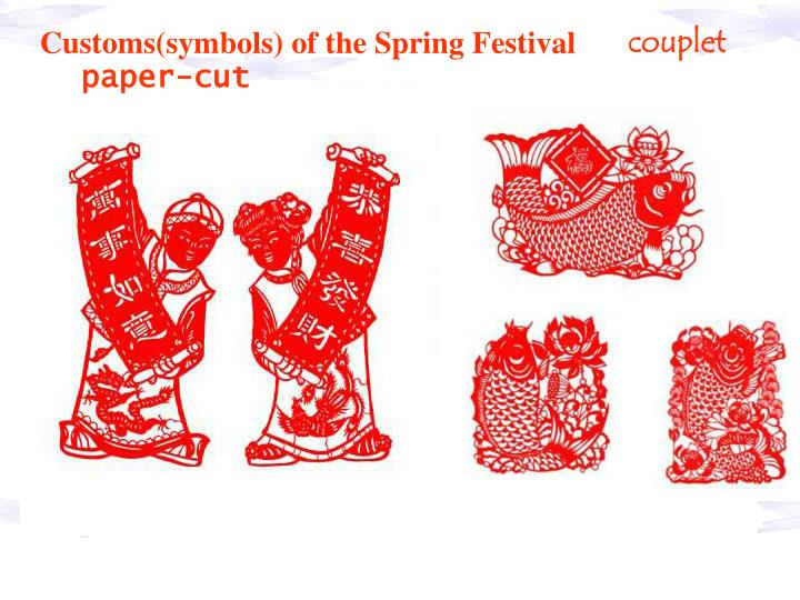 Customs(symbols) of the Spring Festival