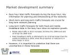 market development summary