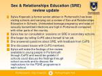 sex relationships education sre review update