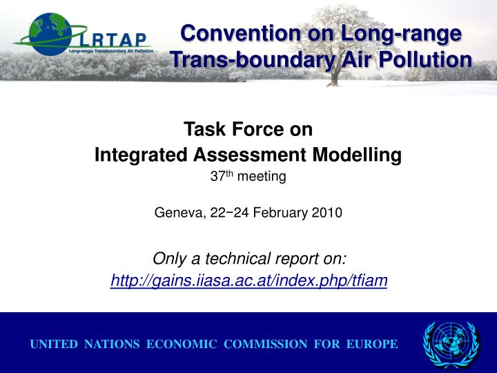 Convention on long range trans boundary air pollution