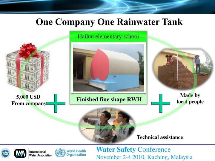 One Company One Rainwater Tank