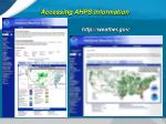 accessing ahps information