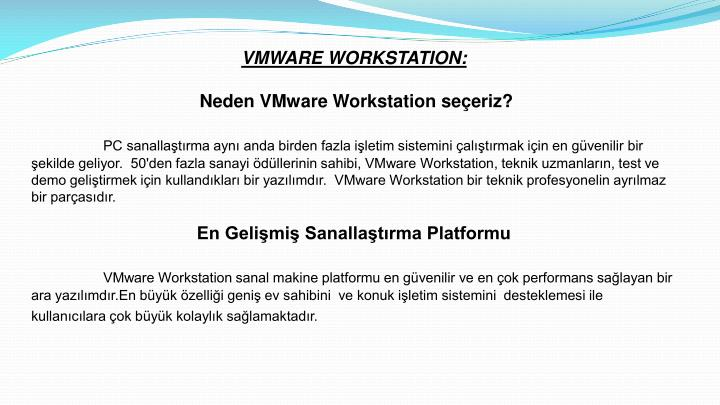 VMWARE WORKSTATION: