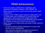 triad achievements