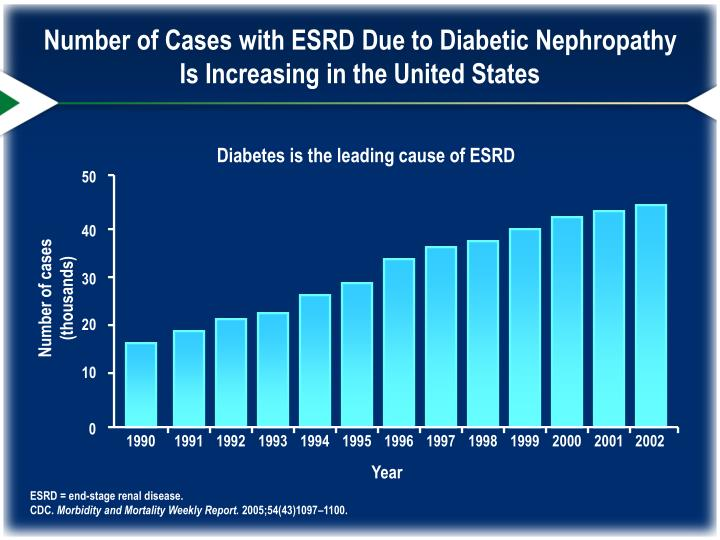 Number of Cases with ESRD Due to Diabetic Nephropathy Is Increasing in the United States