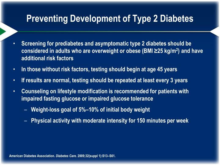 Preventing Development of Type 2 Diabetes