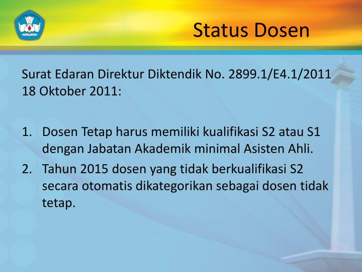 Status Dosen
