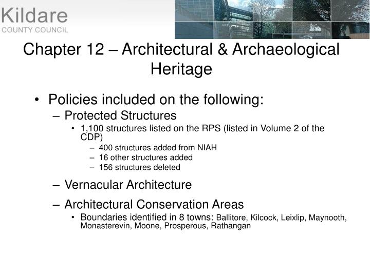 Chapter 12 – Architectural & Archaeological Heritage