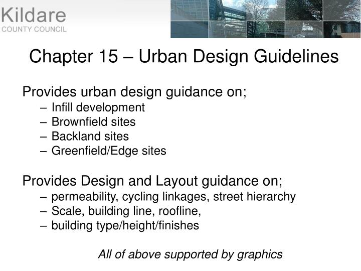 Chapter 15 – Urban Design Guidelines