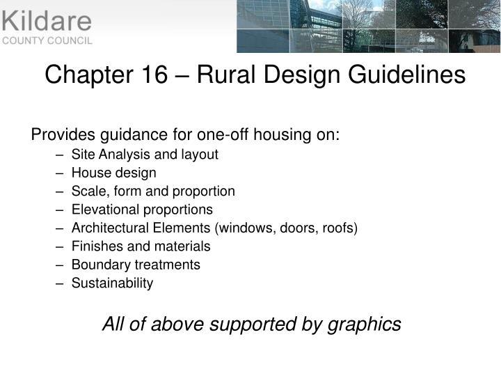 Chapter 16 – Rural Design Guidelines