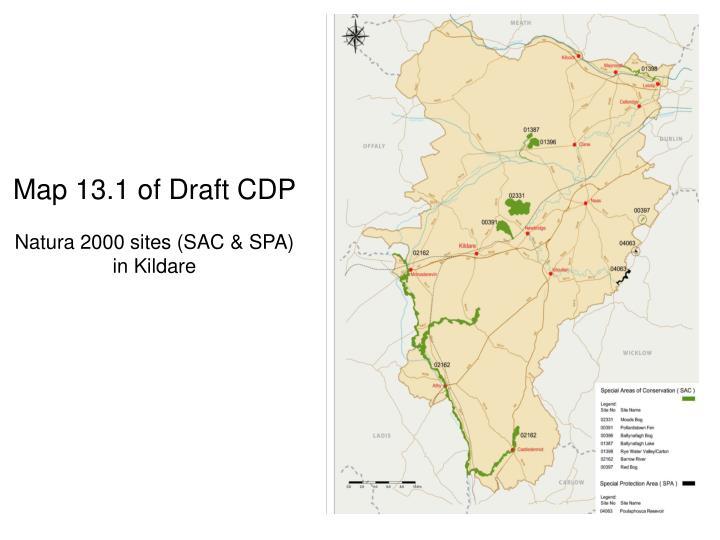 Map 13.1 of Draft CDP