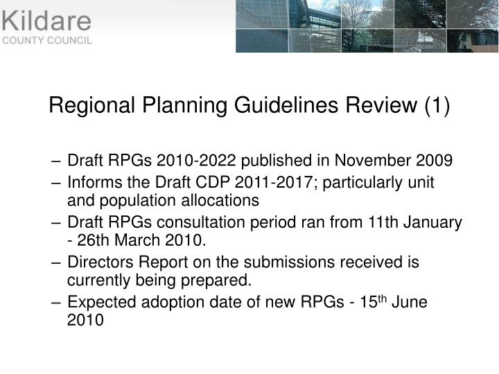 Regional Planning Guidelines Review (1)
