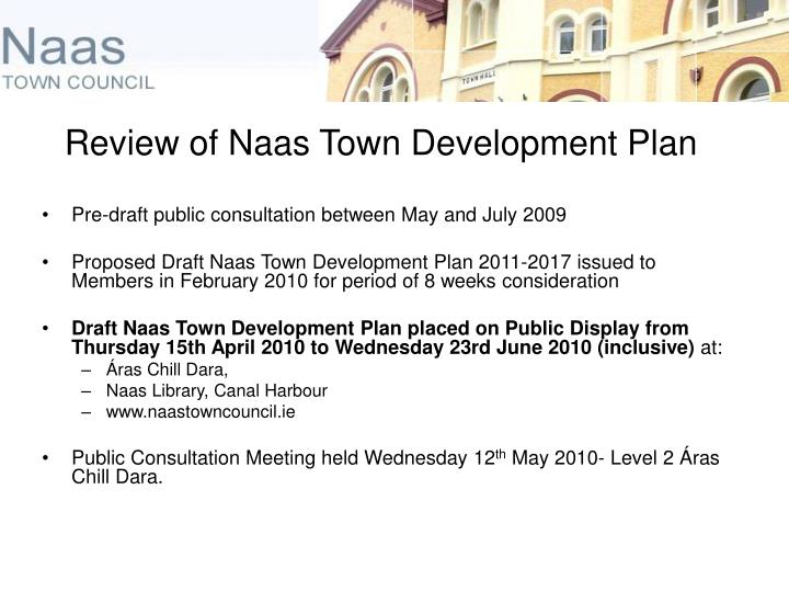 Review of Naas Town Development Plan