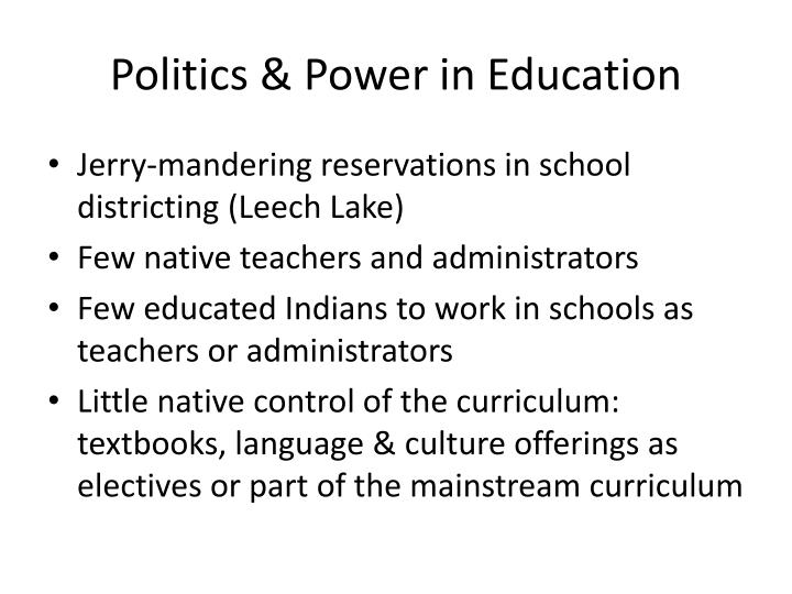 Politics & Power in Education
