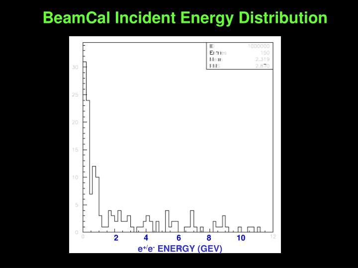 BeamCal Incident Energy Distribution