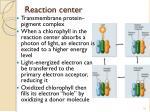 reaction center