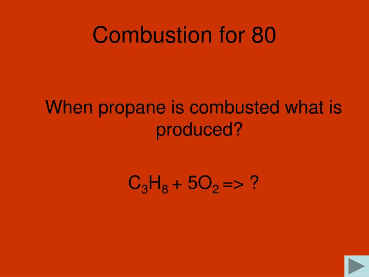 Combustion for 80