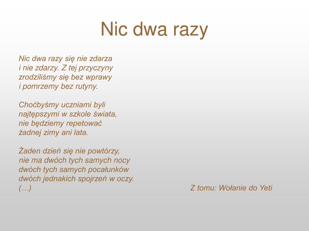 Ppt Wisława Szymborska Powerpoint Presentation Free