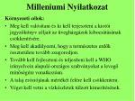 milleniumi nyilatkozat1