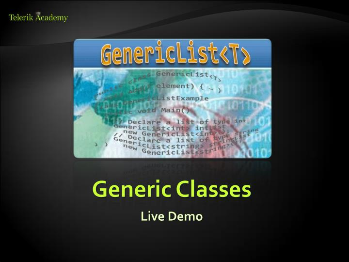Generic Classes