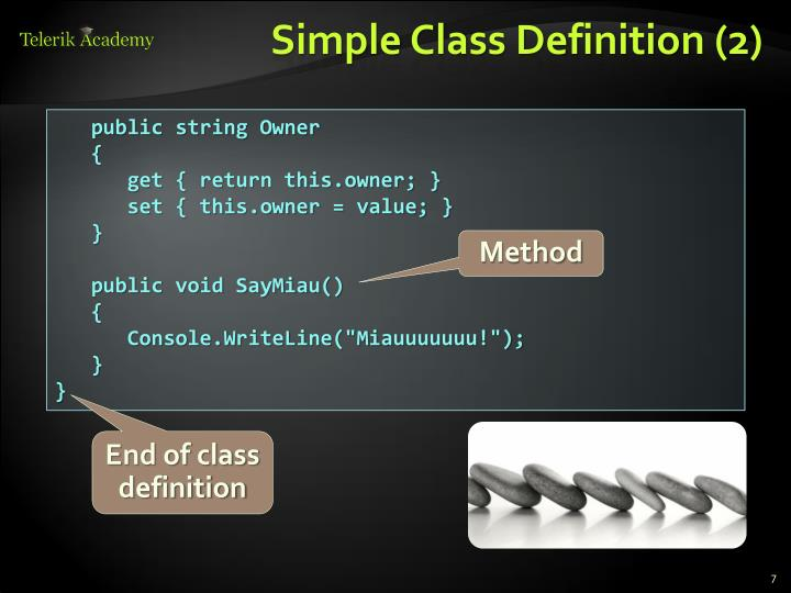 Simple Class Definition (2)