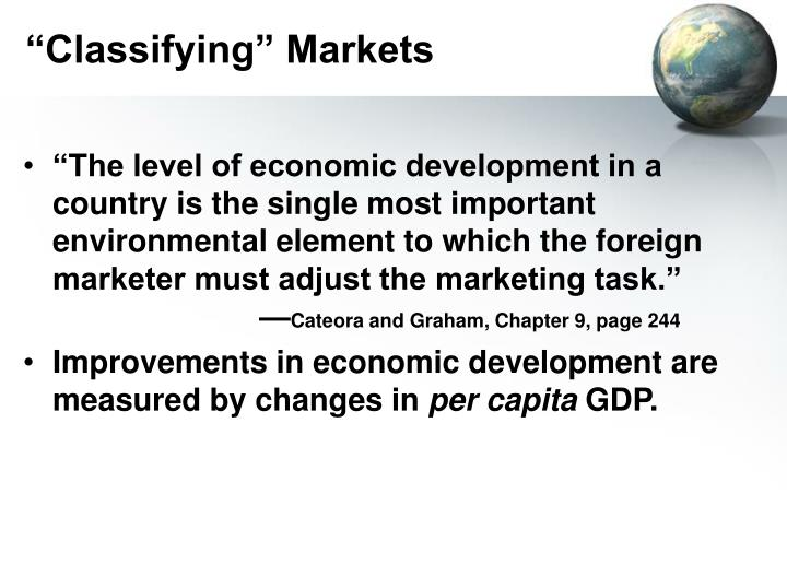 of what importance to marketers is a nation s level of economic development Defining economic development through human one of the best indicators of a nation's level of development is it's about each of these important development.