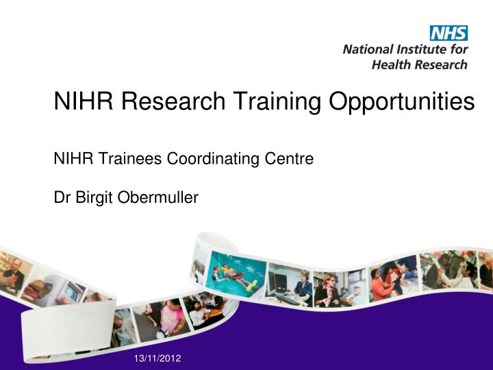 nihr research training opportunities n.