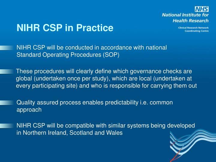 NIHR CSP in Practice