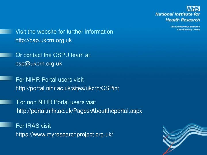 Visit the website for further information