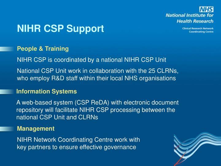 NIHR CSP Support