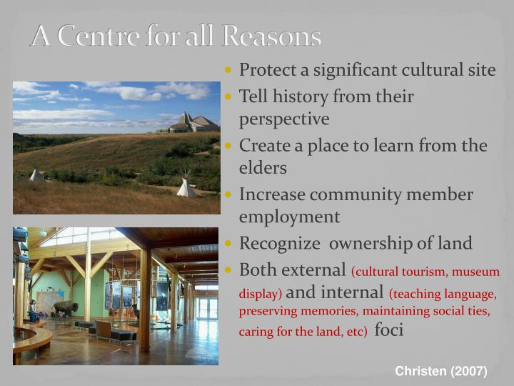 A Centre for all Reasons