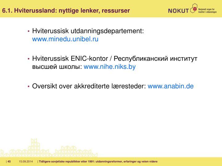 6.1. Hviterussland: nyttige lenker, ressurser