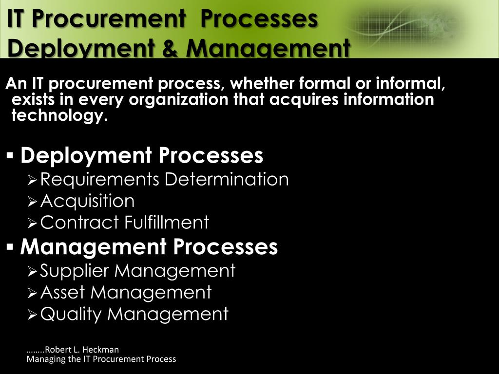 PPT - IT Procurement Overview PowerPoint Presentation - ID