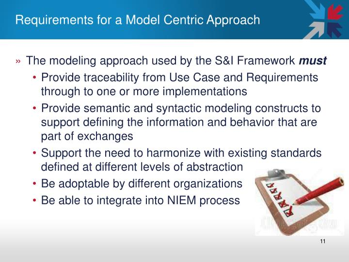 Requirements for a Model Centric Approach