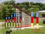 education and health spending