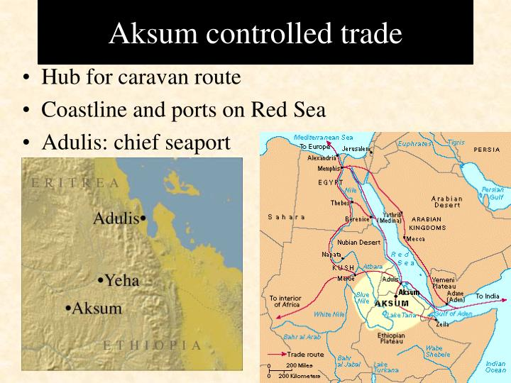 Aksum controlled trade