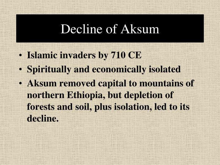 Decline of Aksum