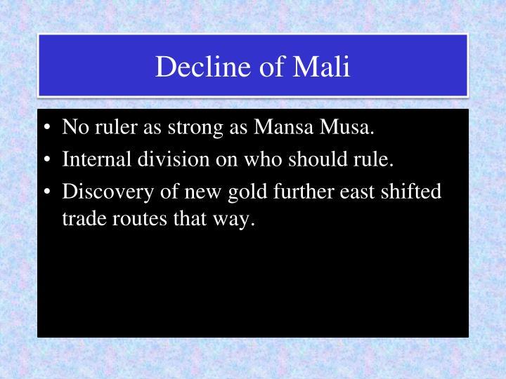 Decline of Mali