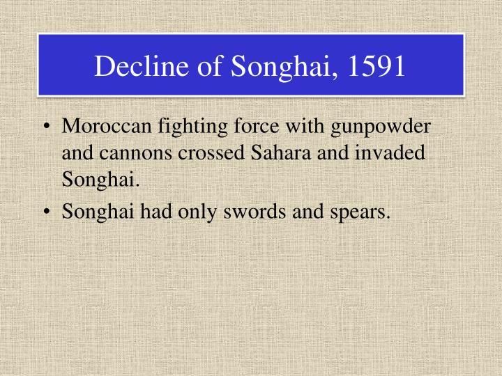 Decline of Songhai, 1591