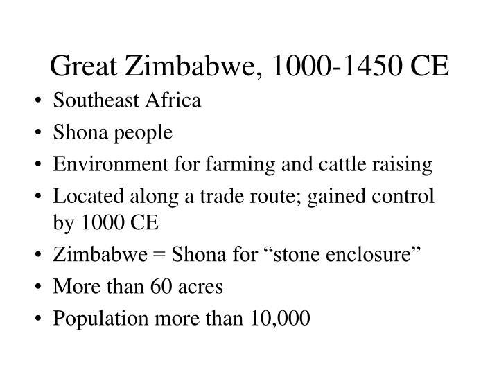 Great Zimbabwe, 1000-1450 CE