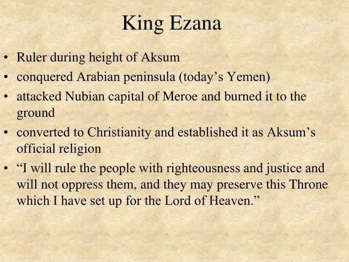 King Ezana