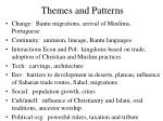 themes and patterns
