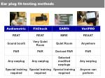 ear plug fit testing methods