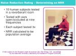 noise reduction rating determining an nrr