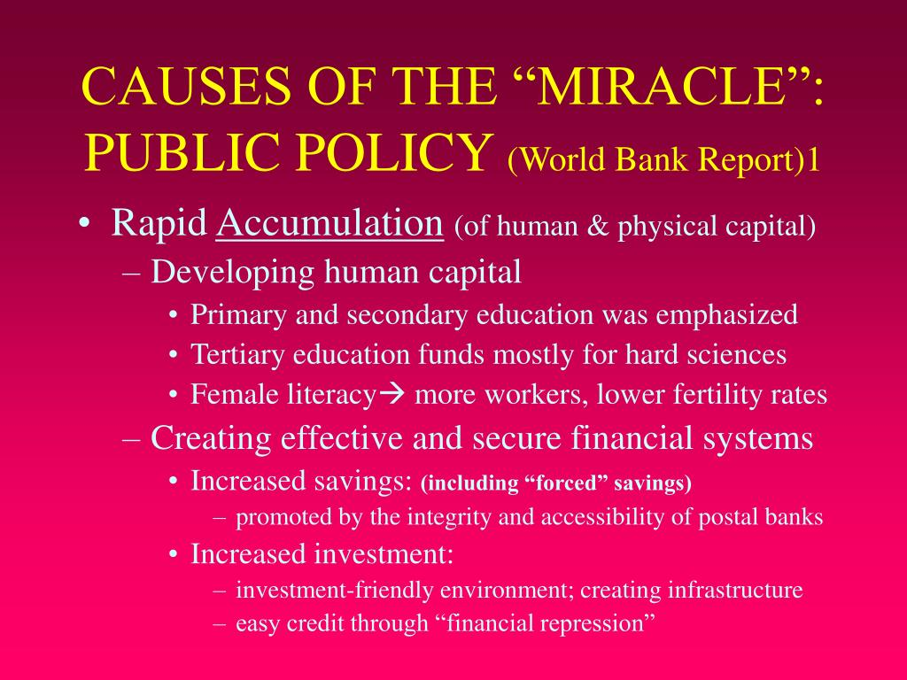 bank the miracle asian World east