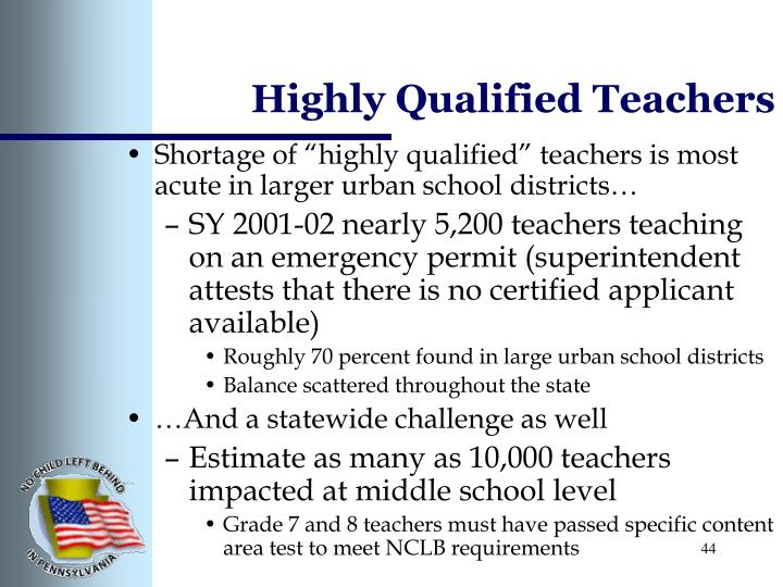 Highly Qualified Teachers