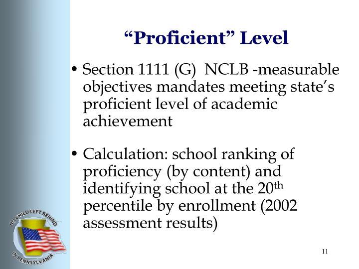 """""""Proficient"""" Level"""