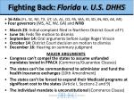 fighting back florida v u s dhhs