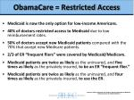 obamacare restricted access